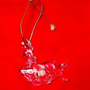 Mikasa Crystal Reindeer Ornament